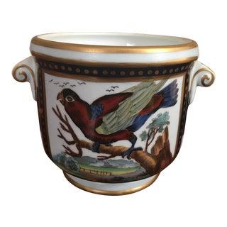 Chelsea House Porcelain Bird Cachepot For Sale