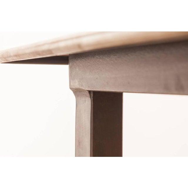 Modern Industrial Steel Desk Work Table For Sale - Image 9 of 9