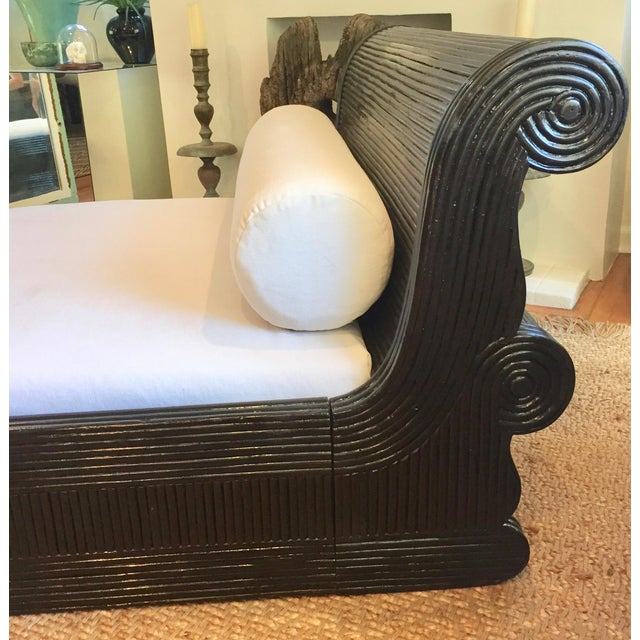 This exotic daybed is so unique and versatile with Art Deco styling, could be used in a bedroom or serve as lounge seating...