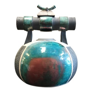 Bob Smith Raku Pot For Sale