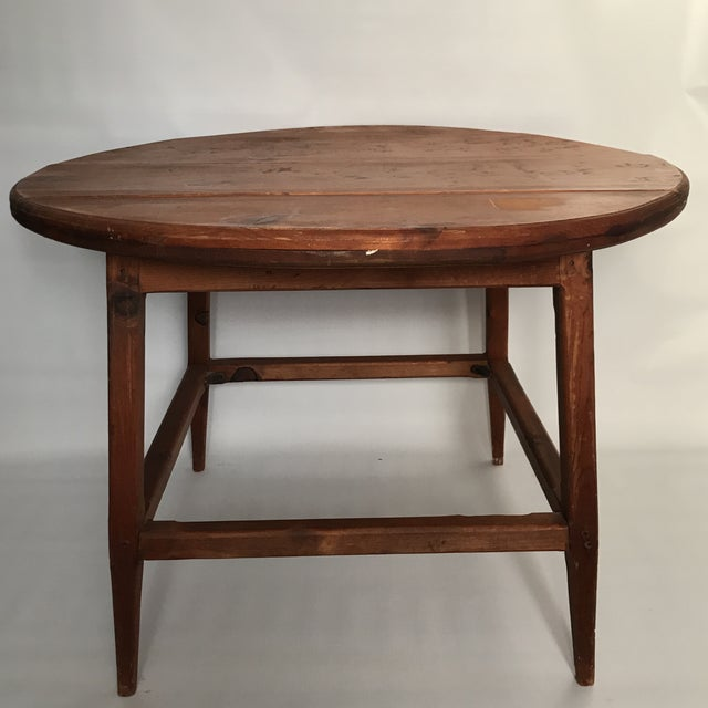 Mid Century Round Wood Table For Sale - Image 4 of 11