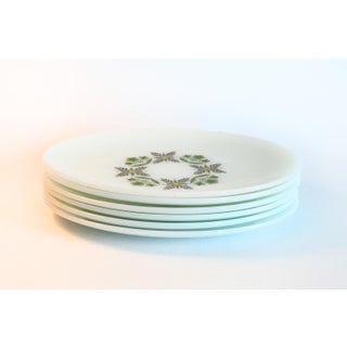 White Milk Glass Oval Dinner Plates - Set of 6 Preview