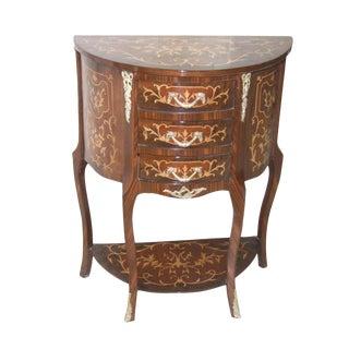 Vintage Demilune Console Table For Sale