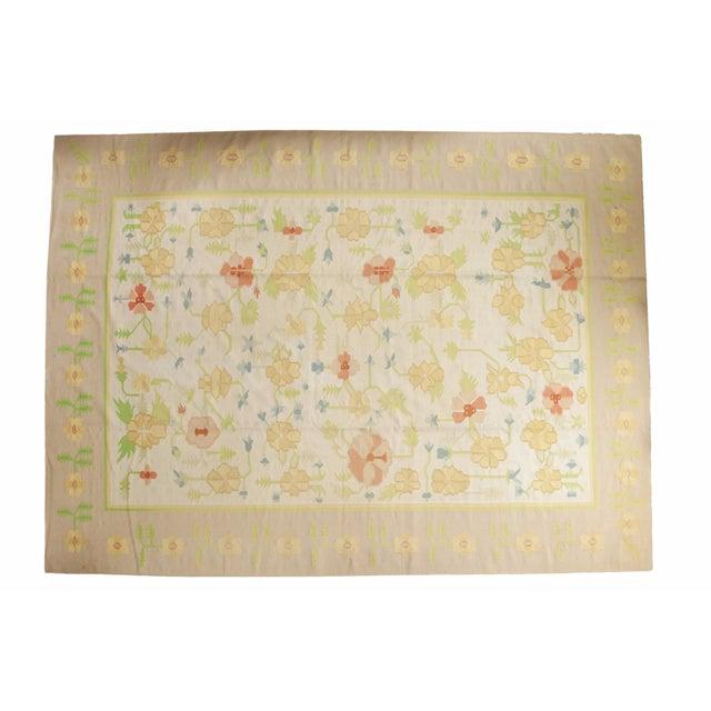 """Vintage Minimalist Dhurrie Carpet - 8'9"""" X 11'10"""" - Image 1 of 10"""