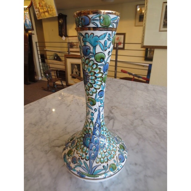 Hand Painted Greek Flower Vase - Image 7 of 9