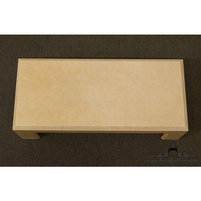 """White Lane Furniture Contemporary Style 54"""" Coffee Table For Sale - Image 8 of 13"""