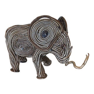 Mid Century Elephant Sculpture From Industrial Material For Sale