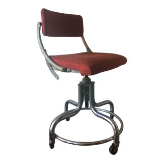 1940s Industrial Domore Swivel Office Chair For Sale