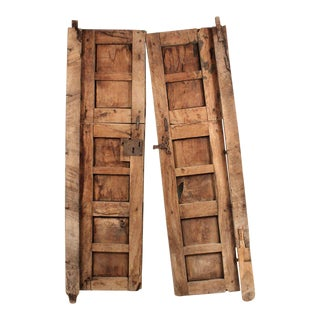 Rustic Pine Pintle-Hinged Doors - a Pair For Sale