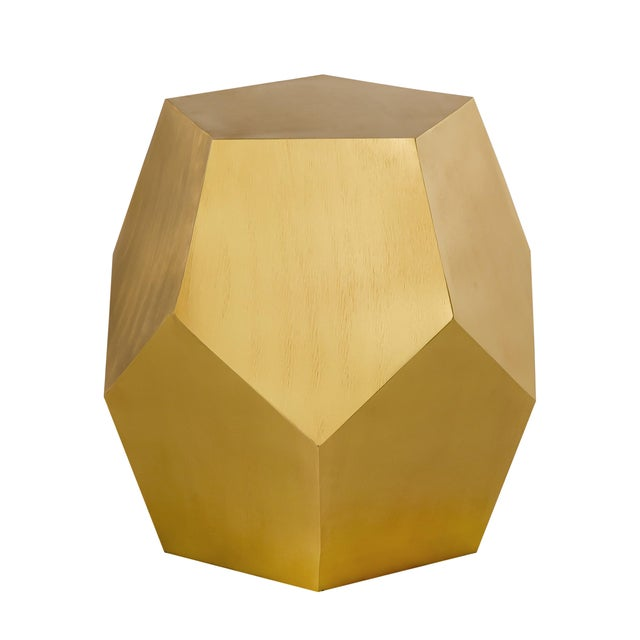 Brass Pasargad Home Mona Side Table For Sale - Image 8 of 8