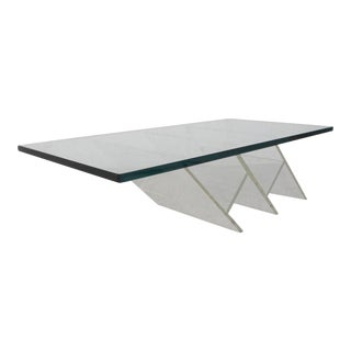 Unusual Vintage Modern Lucite Coffee Table For Sale