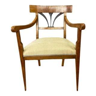Early Biedermeier Fruitwood and Ash Armchair With Upholstered Seat, C. 1825 For Sale