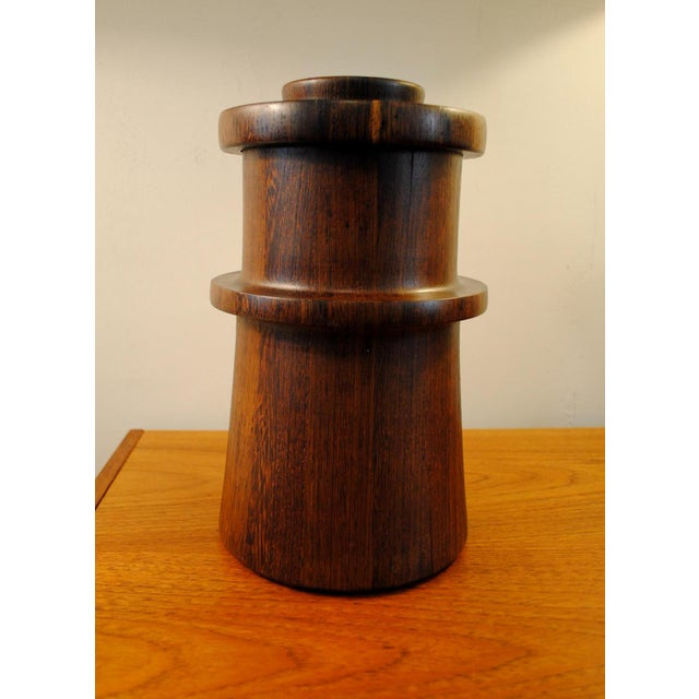 Rare Dansk Wenge Wood Ice Bucket by Jens Quistgaard For Sale - Image 13 of 13