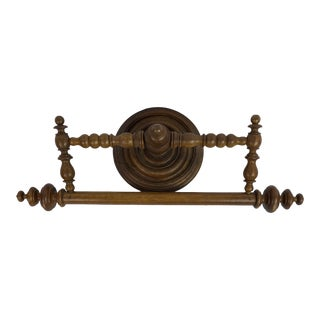 French Wood Towel Bar For Sale