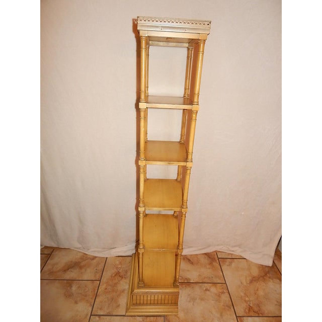Mid-Century Faux Bamboo Tiered Shelf - Image 4 of 10