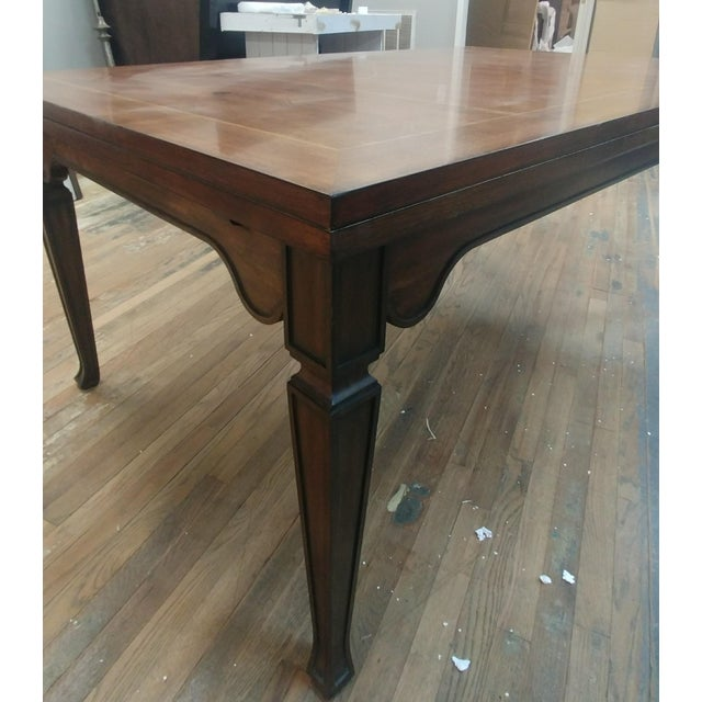 Brown Henredon Furniture Acquisitions European Refectory Walnut Dining Table For Sale - Image 8 of 11