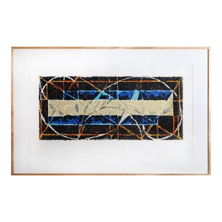 Large Abstract Serigraph by Harry Nadler