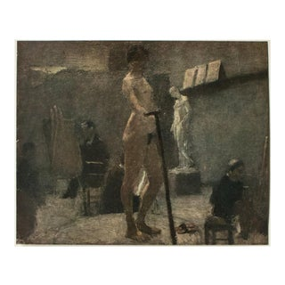 """1940s Henri Matisse """"Study of Gustave Moreau's Studio"""", First Edition Period Lithograph For Sale"""