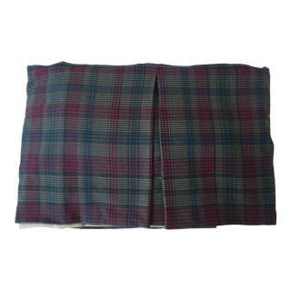 Custom Made Queen Size Wool Cowtan and Tout Tartan Fabric Bedskirt For Sale