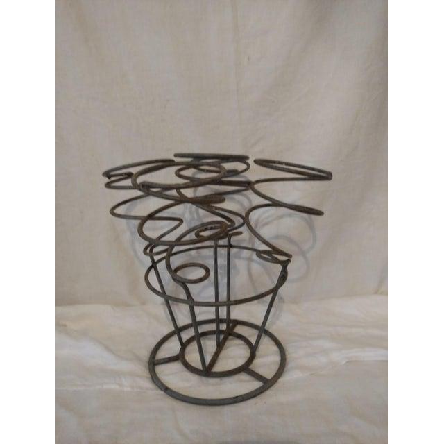 Spiral Gray Metal Wine Rack Holder - Image 5 of 5