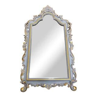 Vintage Rococo Arched Mirror For Sale