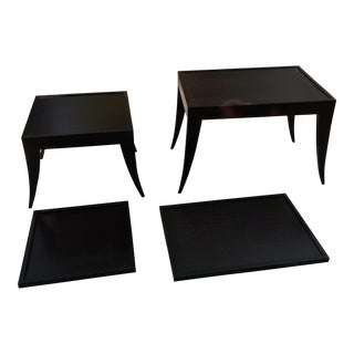 Nesting Tables & Removable Tray Tops - Set of 4