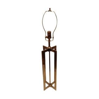 Modern Solid Brass X Lamp