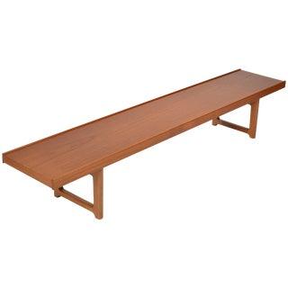 Long Teak Bench 'Krobo' by Torbjörn Afdal for Bruksbo For Sale