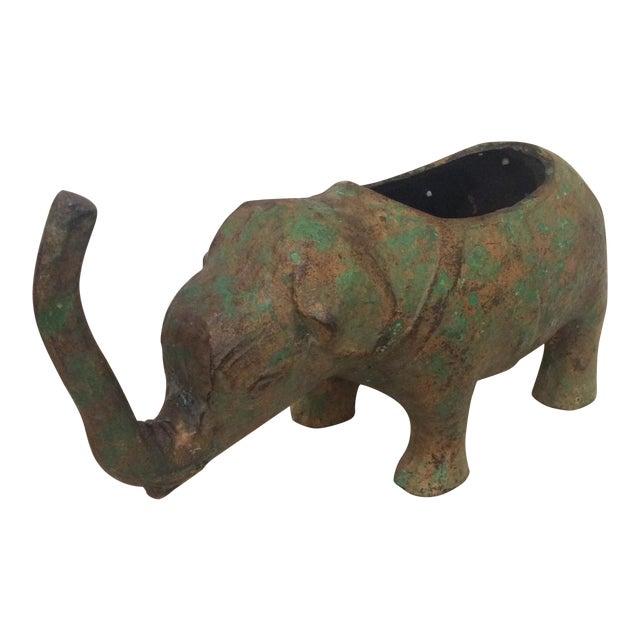 Japanese Cast Metal Elephant Planter - Image 1 of 7