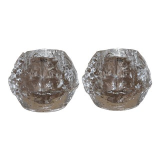 "Kosta Boda 3"" Snowball Votive Candle Holders - Set of 2 For Sale"