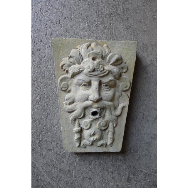 Fountain face mask, wall sculpture / decorative element. Mid-late 20th Century, unknown origin, Renaissance style.