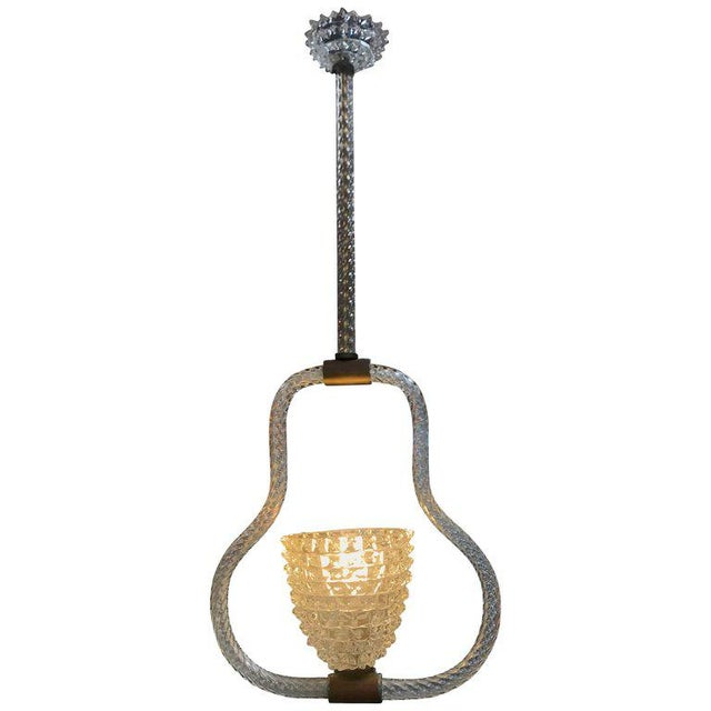 Ercole Barovier & Toso Rostrato Chandelier, Italy, 1940s For Sale - Image 10 of 10