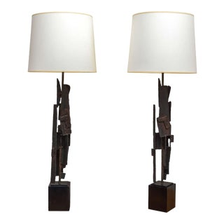 Brutalist Lamps by Laurel Lamp Company For Sale