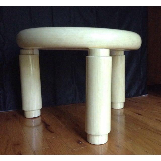Mid-Century Modern Karl Springer Style Corner Table in Tessellated Bone Enrique Garcel , Circa 1970s For Sale - Image 3 of 11