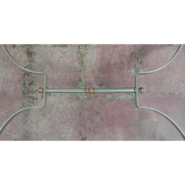 Brass Beautiful Vintage Brass French Coffee Table W/Glass Top For Sale - Image 7 of 10
