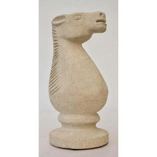 Cast Stone Horse Sculpture - Image 2 of 6