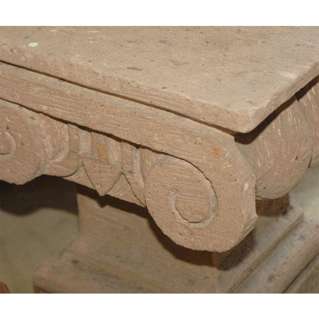Late 20th Century Spanish Colonial Style Carved Stone Capital For Sale - Image 4 of 5