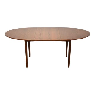 Oval Walnut Extendable Dining Table For Sale