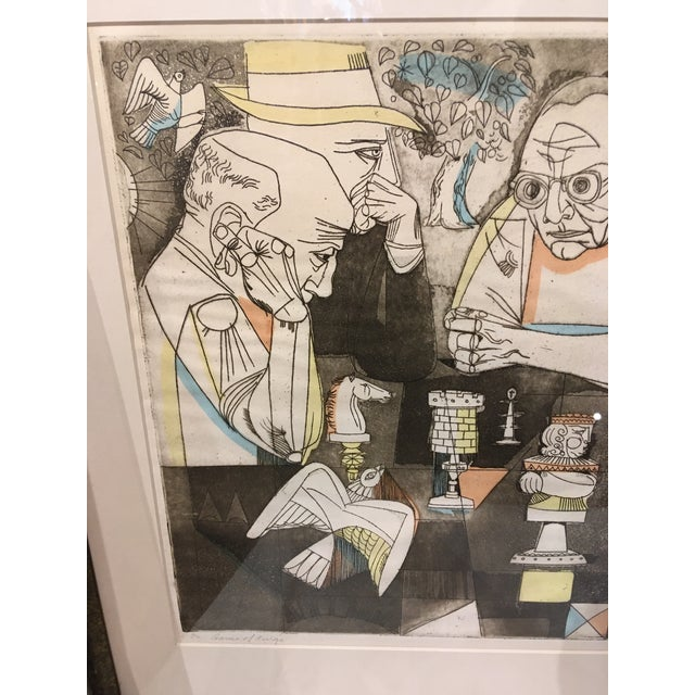 Paper Vintage Mid-Century Signed and Numbered Color Serigraph by Irving Amen For Sale - Image 7 of 12