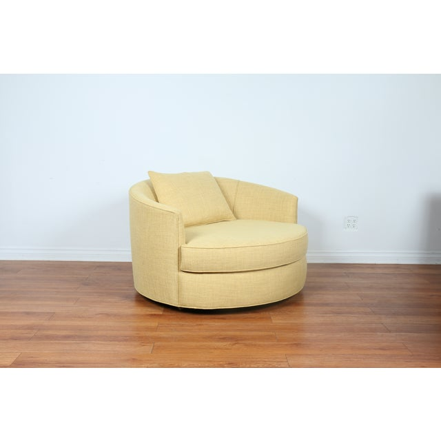 Milo Baughman Style Barrel Chair - Image 3 of 10