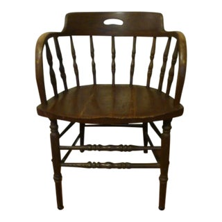 Primitive Farmhouse Antique Windsor Chair For Sale