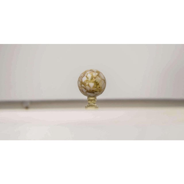 White Murano Glass Lamp For Sale In New York - Image 6 of 7