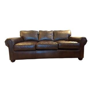 Early 21st Century Vintage Restoration Hardware Original Lancaster Leather Sofa For Sale