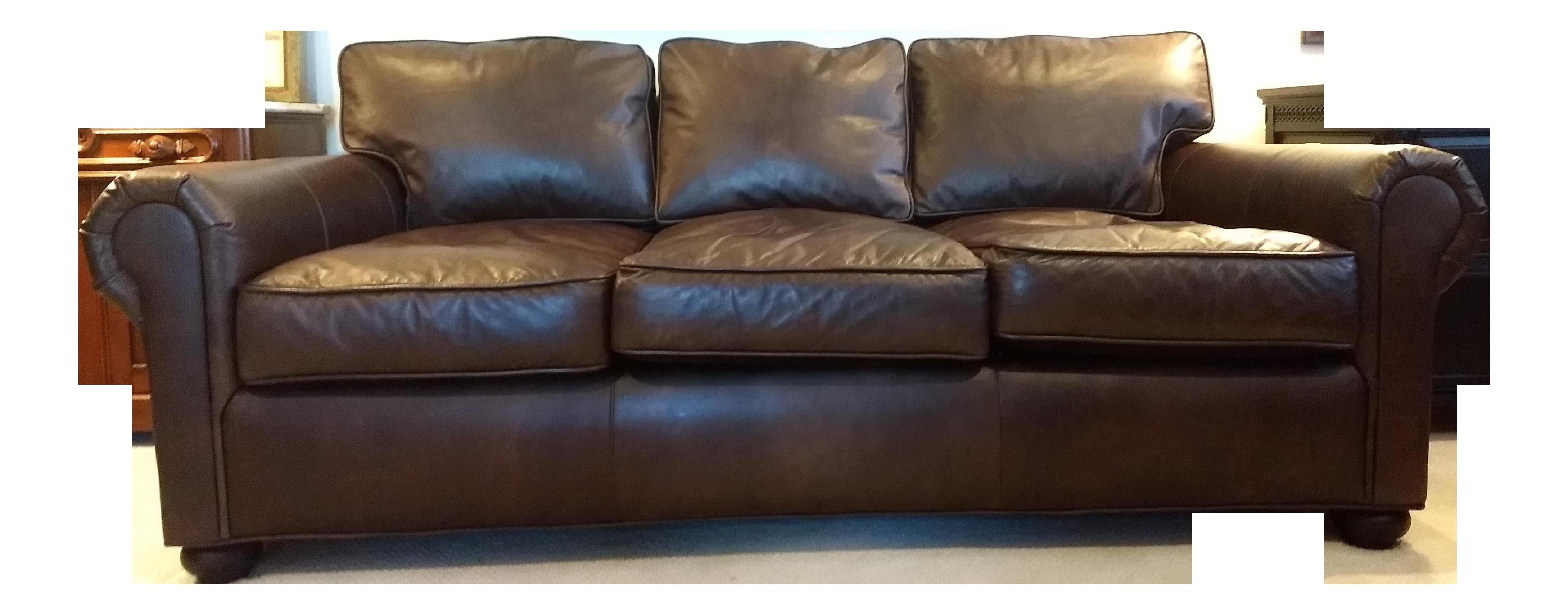 Bon Early 21st Century Vintage Restoration Hardware Original Lancaster Leather  Sofa For Sale