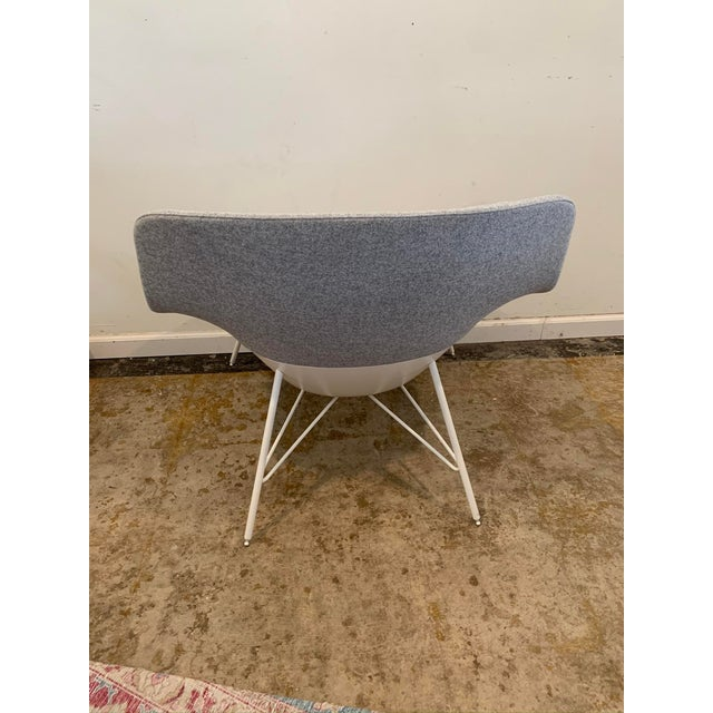 Gray Flannel Mid-Century Womb Chair For Sale - Image 4 of 9