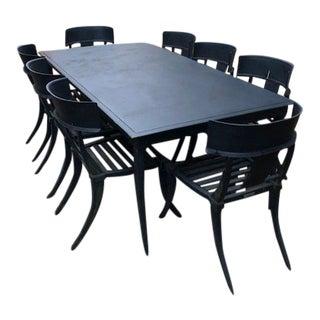 Klismos Greek Style Aluminum Dining Set