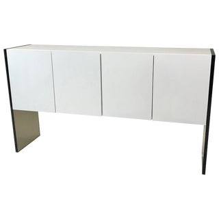 Milo Baughman for Thayer Coggin Lacquer and Lucite Sideboard For Sale