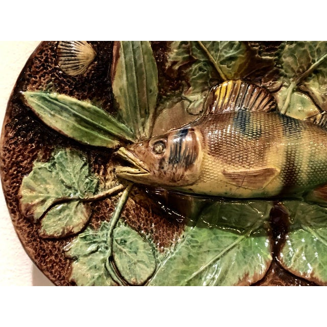 Cottage Palissy Plate, France Circa 1880 For Sale - Image 3 of 6