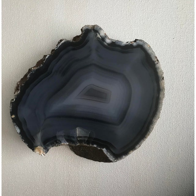 Sliced Gray Agate Polished Catch-All Bowl - Image 2 of 4