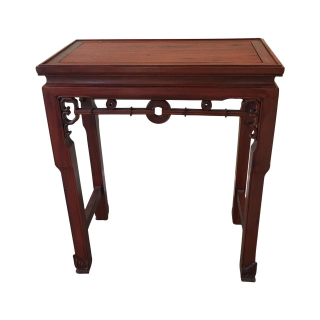 Carved Chinese Rosewood Alter Table For Sale